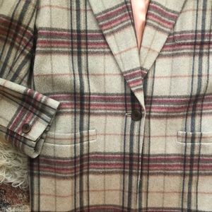 Vintage Jackets & Coats - Vintage Plaid Wool Blazer
